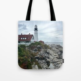 """Portland Head Light"" Photography Tote Bag"