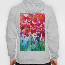 A Walk Among The Flowers No.7a by Kathy Morton Stanion Hoody