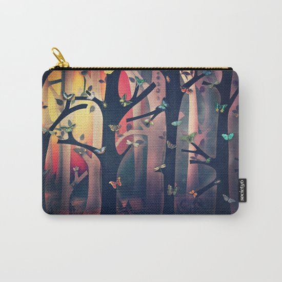 The Woods at Sunset Carry-All Pouch