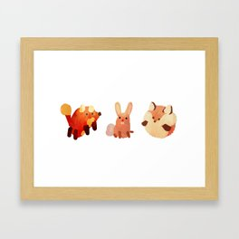Cute Fuzzy Animals Framed Art Print