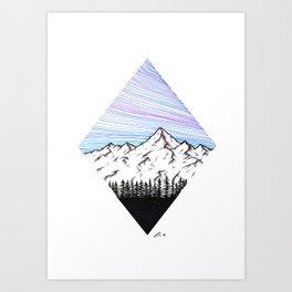 Purple mountains Art Print
