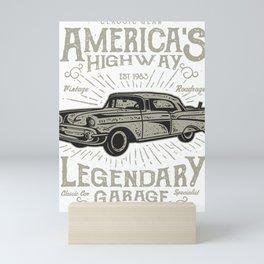Americas Highway Legendary Garage Mini Art Print