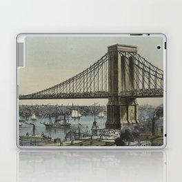 Vintage Brooklyn Bridge Illustration (1872) Laptop & iPad Skin