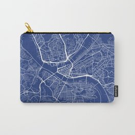Pittsburgh Map, USA - Blue Carry-All Pouch