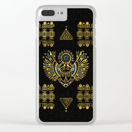 Egyptian Scarab Beetle Clear iPhone Case
