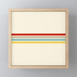 Brazilian Retro Stripes Framed Mini Art Print