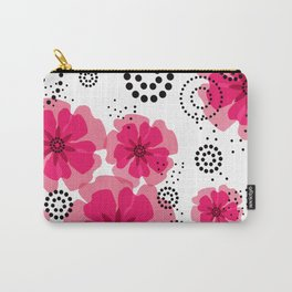 PEPPER POPPIES | fuschia Carry-All Pouch