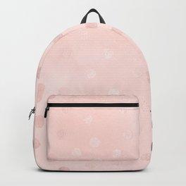 Rose Gold Pastel Pink Polka Dots Backpack