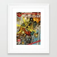 transformers Framed Art Prints featuring transformers by Haribow