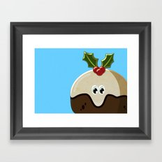 Christmas pudding Framed Art Print