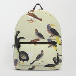 medieval illustration BIRDS Backpack
