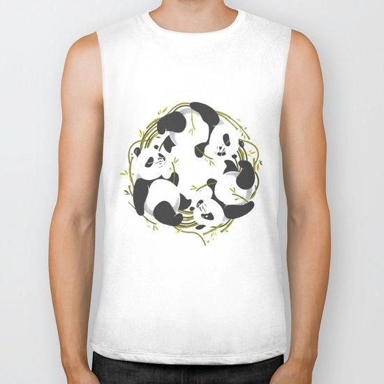 Panda dreams Biker Tank