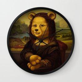Mona Lisa Bear Wall Clock