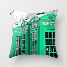 Reed Booths Turned Seafoam Throw Pillow