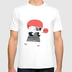 The ginger photographer MEDIUM White Mens Fitted Tee