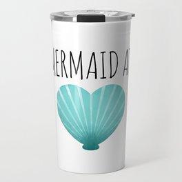 Mermaid At Heart  |  Teal Travel Mug