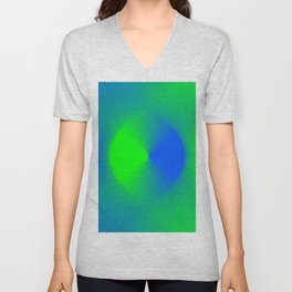 Blue and Green Burst Unisex V-Neck
