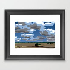 NoCal highway scenic Framed Art Print