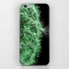 Dandelion Seed Head in Green iPhone & iPod Skin