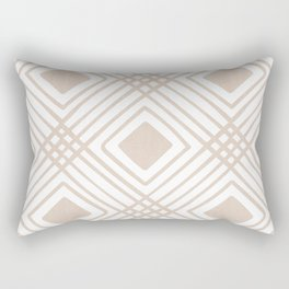 Criss Cross Diamond Pattern in Tan Rectangular Pillow
