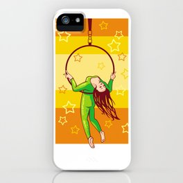 Trapeze-artist under the Circus dome iPhone Case
