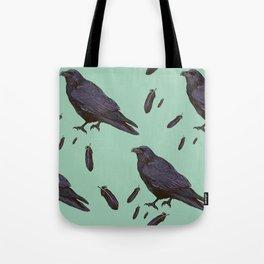 Mint Raven Tote Bag