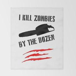 zombie funny Throw Blanket