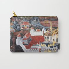 Wall painting from the Grand Palace in Bangkok, Thailand Carry-All Pouch