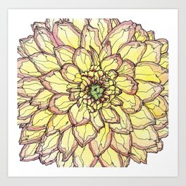 Yellow Flower Love Art Print