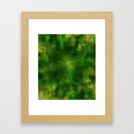 Green Crystal Marble Painting Framed Art Print