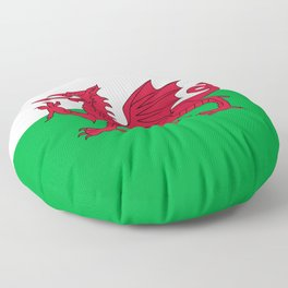 Flag of Wales - Hi Quality Authentic version Floor Pillow
