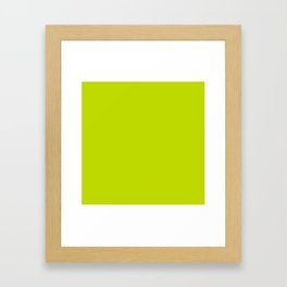 Simply Lime Punch pantone Framed Art Print