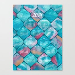 2014 Watercolor Wonders Calendar Canvas Print