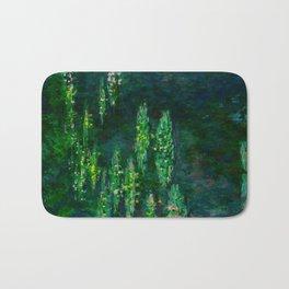Claude Monet Impressionist Landscape Oil Painting Waterlilies Bath Mat