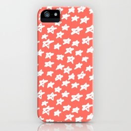 Stars Living Coral iPhone Case
