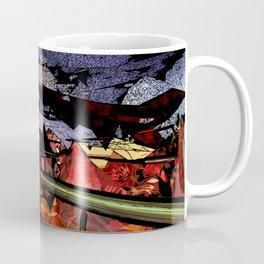 Futuristic Sci-Fi Landscape Digital Wallart 3D Mountains Road Coffee Mug