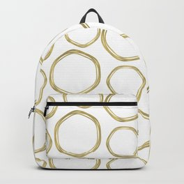White & Gold Circles Backpack