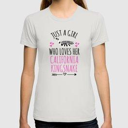 Just A Girl Who Loves Her California Kingsnake T-shirt