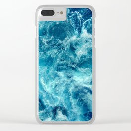 Ocean is shaking Clear iPhone Case