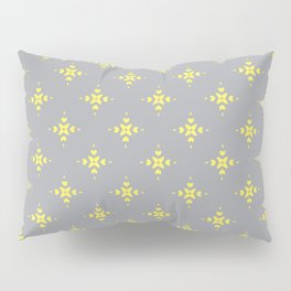 Ornamental Pattern with Grey and Lemon Yellow Colourway Pillow Sham