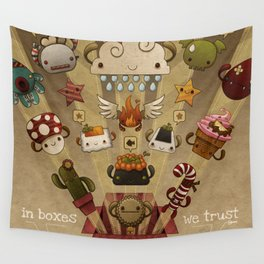 In boxes we trust Wall Tapestry