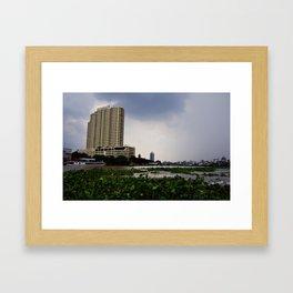 Chao Phraya River View Framed Art Print