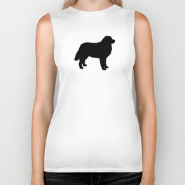 Bernese Mountain Dog Silhouette(s) Biker Tank