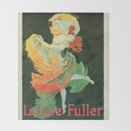 La Loie Fuller Throw Blanket