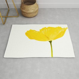 Yellow Poppy White Background #decor #society6 #buyart Rug
