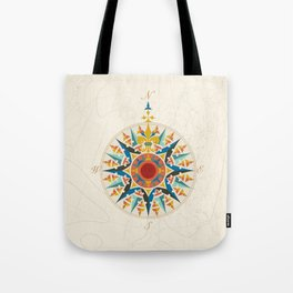 Rose Compass  Tote Bag