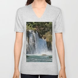 Waterfalls KRK, Croatia 2 Unisex V-Neck