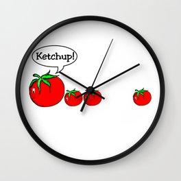 Ketchup Clean Joke Shirt Wall Clock