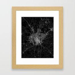 san antonio map Framed Art Print