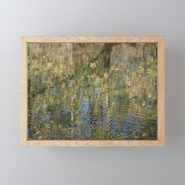 Monet-Like Autumn Reflection Framed Mini Art Print